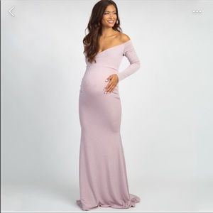 Gorgeous pinkblush pink maternity dress/gown